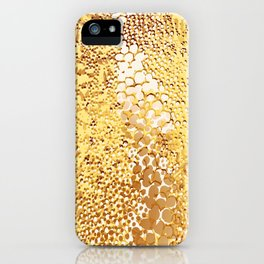 gush of dots in yellow iPhone Case