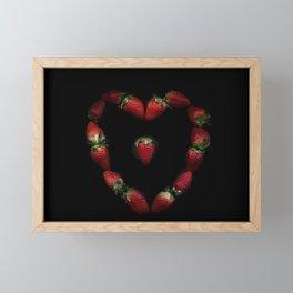 Heart of strawberries Framed Mini Art Print
