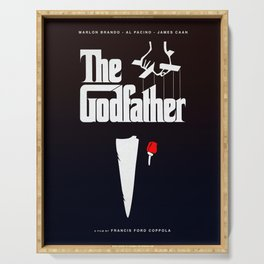 The Godfather, 1972 (Minimalist Movie Poster) Serving Tray