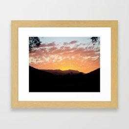Bright Sunset Framed Art Print