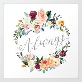 Always - Silver Art Print