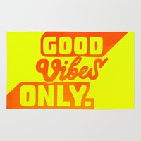 good vibes Area & Throw Rugs featuring Good Vibes by Daizy Jain