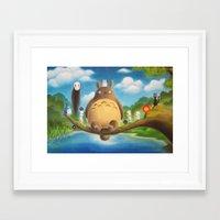 ghibli Framed Art Prints featuring Ghibli Compilation  by KalaElizabeth