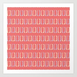 Square Brackets Signs Pattern Art Print