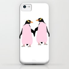 Gay Pride Lesbian Penguins Holding Hands iPhone 5c Slim Case