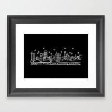 Brooklyn, New York City Skyline Framed Art Print