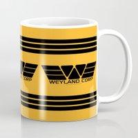 prometheus Mugs featuring Weyland-Yutani Corp. by IIIIHiveIIII