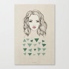 Green girl Canvas Print