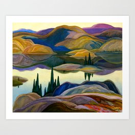 Franklin Carmichael - Mirror Lake - Canada, Canadian Watercolor Painting - Group of Seven Art Print