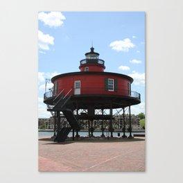 Seven Foot Knoll Lighthouse Canvas Print