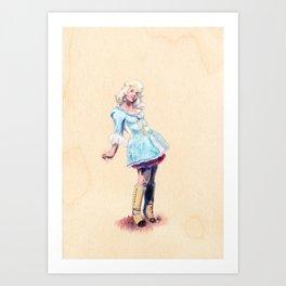 Edwardian Kelly Art Print