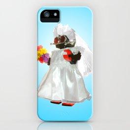 Bridebot Blue iPhone Case