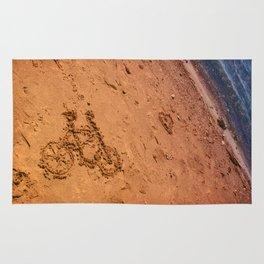 sand bicycle Rug