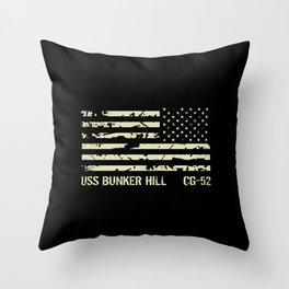 USS Bunker Hill Throw Pillow