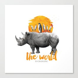The World Is Changing Canvas Print