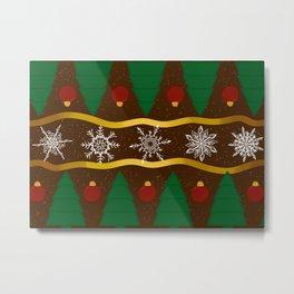 Christmas Pattern Metal Print
