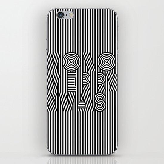 Mono Merry Xmas iPhone Skin