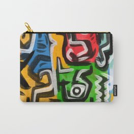 Primitive street art abstract Carry-All Pouch