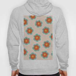 70s Retro Flowers  Hoody