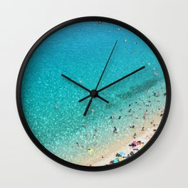 italian beach Wall Clock