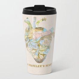 A Traveler's Heart Metal Travel Mug