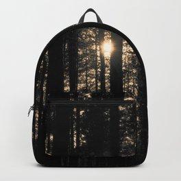 Sun between trees Backpack