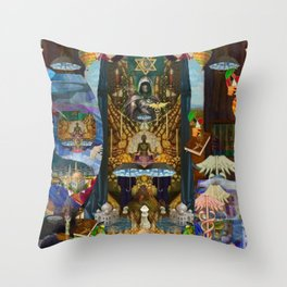 The Golden Cage Throw Pillow