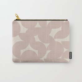 Abstract Geometric Shapes - Neutral Rose Carry-All Pouch