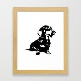 """DACHSHUND """"DOXIE""""  DOG Framed Art Print"""