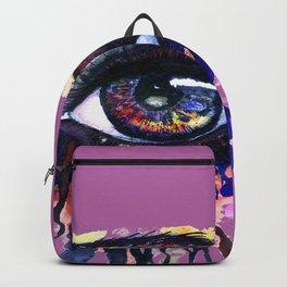 Rainbow eye splashing Backpack