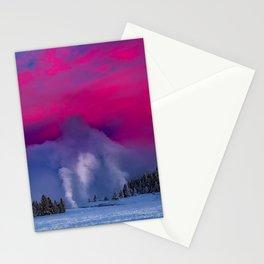 Geysers Raising - Sunrise - Yellowstone National Park Stationery Cards
