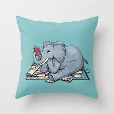The Best Thing About Rainy Days Throw Pillow