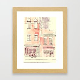Coffee and Bikes Framed Art Print
