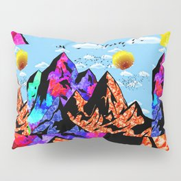 Colored Peaks Pillow Sham