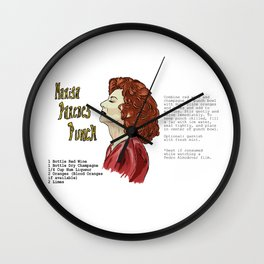 Marisa Paredes Punch Cocktail Recipe Wall Clock
