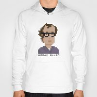 woody allen Hoodies featuring Woody Allen by Pixel Faces