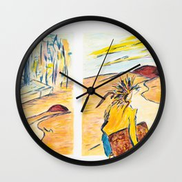 X voYages de Zed (toile 3 - série 1) Wall Clock