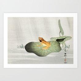 Ohara Koson, Frog On Lotus Leaf - Vintage Japanese Woodblock Print Art Art Print