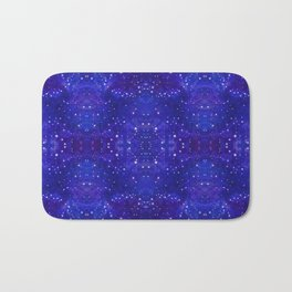Fractal Galaxy Blues Bath Mat