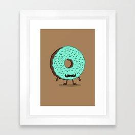 The Mustache Donut Framed Art Print