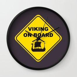 VIKING ON BOARD Wall Clock