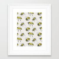 bees Framed Art Prints featuring Bees by Tracie Andrews