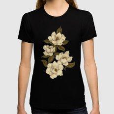 Magnolias Womens Fitted Tee MEDIUM Black