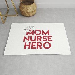 Mom Nurse Hero With Nurse's Cap 1 Rug