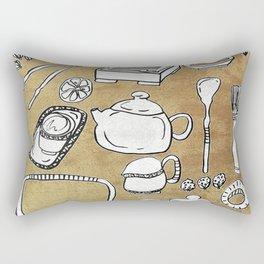 Chinese Tea Doodle 1 Rectangular Pillow