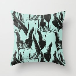 Tropical bloom - Bicolor Throw Pillow