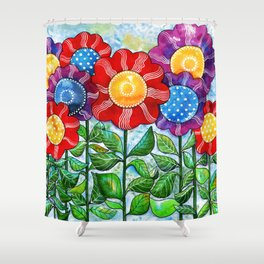 Happiest Flowers Shower Curtain