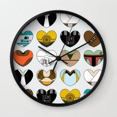 Character Hearts Wall Clock