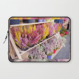shelves with blooming heather Laptop Sleeve