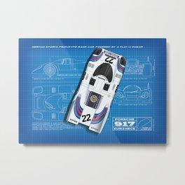 917 Le Mans 1971 Blueprint Metal Print